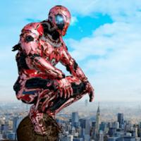 Super Crime Steel War Hero Iron Flying Mech Robot mod apk